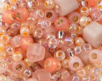 """Toho Seed Bead Piichi Mix - Peach 2.5"""" Tube TX-01-3202/C"""