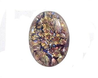 Amethyst Opal Glass Cabochon 25x18mm (1) cab5006E