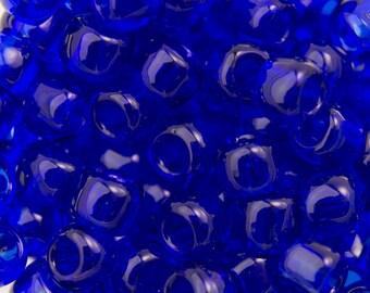 "Transparent Cobalt Toho Seed Bead (8g) 6/0 2.5"" Tube TR-06-8/C"