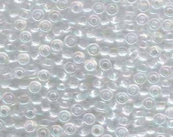 Crystal AB Miyuki Seed Bead 6/0 20G Tube 6-9250-TB