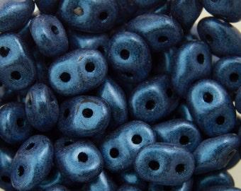 "Metallic Suede Blue SuperDuo Beads 2/5mm 2.5"" Tube 364-25-79031/C"