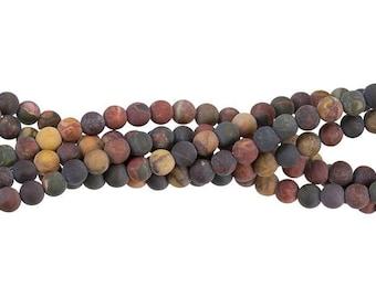 "30% OFF Dakota Stones Matte Dark Red Creek Jasper 6mm Round Gemstones. 8"" Strand. RCJ6RD-M-DK"