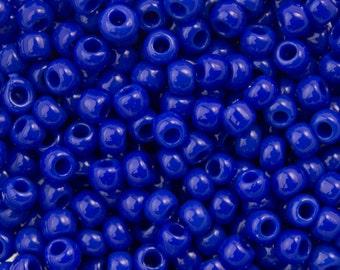 "Opaque Navy Blue Toho Seed Bead 11/0 2.5"" Tube TR-11-48/C"