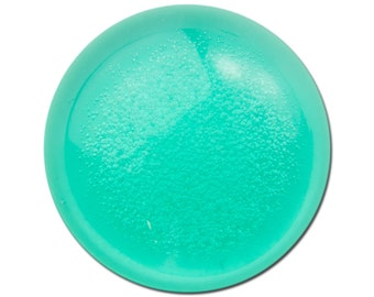 Vintage Green Acrylic Translucent Cabochon with Bubbles 30mm (2) cab793C
