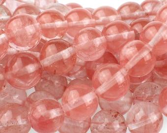 "Dakota Stones Cherry Quartz 10mm Round Gemstones 8"" Strand CHQ10RD-8"