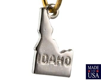 Shiny Silver Tiny Idaho State Charm Drops (2) chr225J