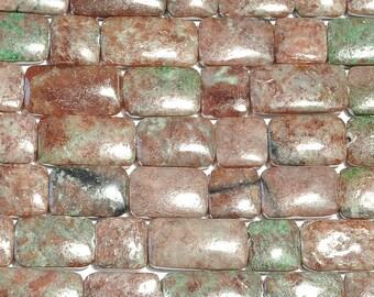 "30% OFF Dakota Stones Kashgar Garnet 13x18 Rectangle & 12mm Square Gemstones. 8"" Strand. KAS12SQU-8"