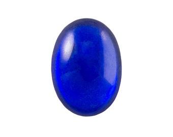 Transparent Sapphire Foiled Glass Oval Cabochons 25x18mm (1) cab4006L