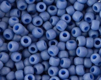 Semi Glazed Soft Blue Toho Seed Bead 11/0 TR-11-2606F