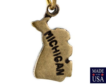 Brass Ox Tiny Michigan State Charm Drops (2) chr204M