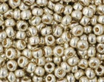 "PermaFinish Galvanized Aluminum Toho Seed Bead 11/0 2.5"" Tube TR-11-PF558/C"