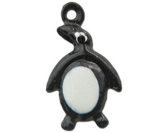Vintage Enameled Penguin Charms 17mmx10mm (4) chr176C