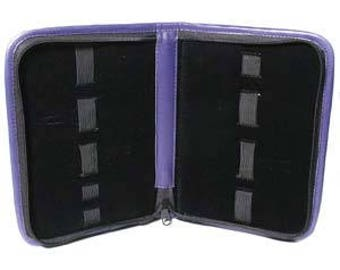 Purple Leatherette 9 Band Plier Carry Case