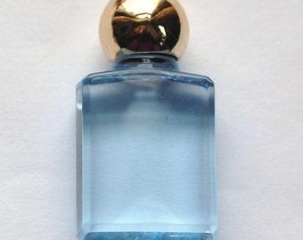 Vintage Blue Miniature Faux Perfume Bottle Pendant pnd114