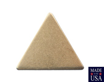 No Hole Raw Brass Triangle Charms Drops 13mm (10) mtl147B
