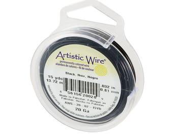 Black Artistic Wire 20ga/15yrds AW2002
