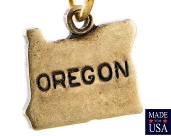 Brass Ox Tiny Oregon State Charm Drops (2) chr204R