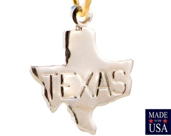 Shiny Silver Plated Tiny Texas State Charm Drops (6) chr224A