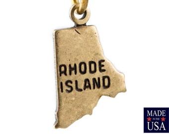 Brass Ox Tiny Rhode Island State Charm Drops (2) chr204FF