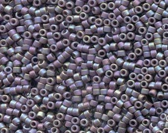 Frosted Opaque Glazed Rainbow Grape Miyuki Delica Seed Bead 11/0 7.2G Tube DB2322-TB