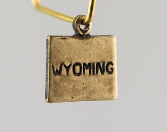 Brass Ox Tiny Wyoming State Charm Drops (2) chr204HH