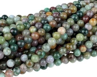 "Dakota Stones Fancy Jasper 4mm Round Gemstones 8"" Strand FAN4RD-8"