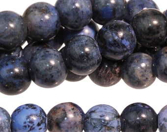"Dakota Stones Sunset Dumortierite 8mm Large Hole Gemstones. 8"" Strand. SDM8RDLH-8"