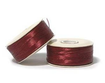 "Dark Red Nymo ""D"" Beading Thread 64yd Bobbin NYMDRE"