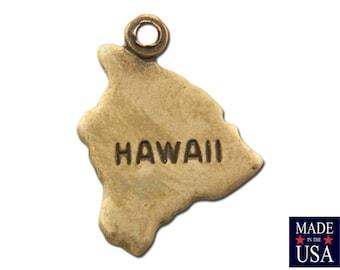 Brass Ox Tiny Hawaii State Charm Drops 14x11mm (6) chr203PP