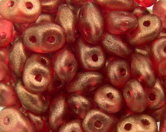 "Halo Cardinal SuperDuo Beads 2/5mm 2.5"" Tube 364-25-29256/C"