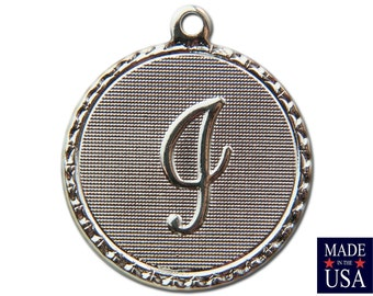 Silver Plated i Letter Charm Drop with Loop (1) chr221i