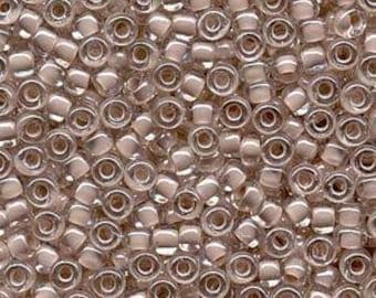 Blush Lined Crystal Miyuki Seed Bead 6/0 20G Tube 6-9215-TB