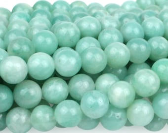 "Dakota Stones Amazonite 6mm Round Gemstones. 8"" Strand. AMZ6RD-8"