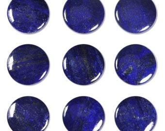Dakota Stones Lapis 25mm Round Coin Cabochon Gemstone. (1) CAB- LAP25DC