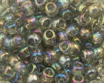 Transparent Rainbow Black Diamond Toho Seed Bead 8/0 TR-08-176