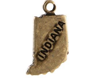 Brass Ox Tiny Indiana State Charm Drops (6) chr203CC