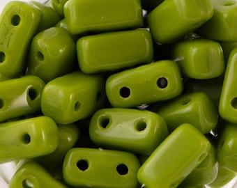 Opaque Olive Czech Mate Brick Beads 3/6mm (50) 365-36-53420