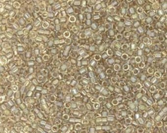 Fancy Lined Rose Taupe Miyuki Delica Seed Bead 11/0 7.2G Tube DB2395-TB