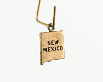 Brass Ox Tiny New Mexico State Charm Drops (6) chr203Y