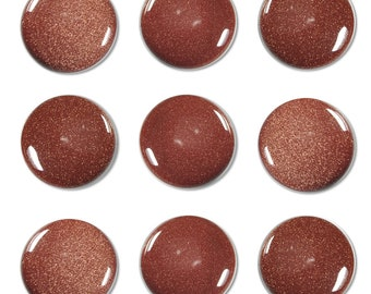 Dakota Stones Goldstone 25mm Round Cabochon Coin Gemstones. (1) CAB-GLD25DC