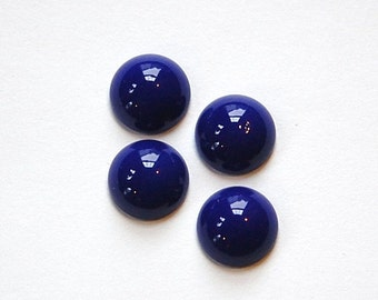 Vintage Opaque Blue Glass Cabochons 11mm cab703BB