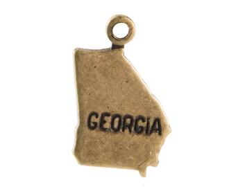 Brass Ox Tiny Georgia State Charm Drops (2) chr204KK