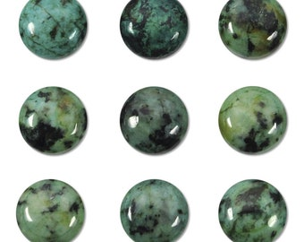 Dakota Stones African Turquoise 10mm Round Cabochon Gemstones. CAB-ATQ10DC
