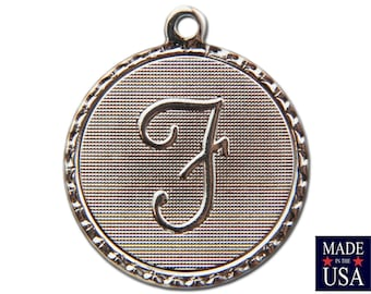 Silver Plated Letter F Initial Charm Drop with Loop (4) chr220F