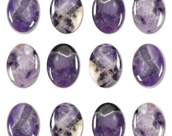 Dakota Stones Dog Teeth Amethyst 25x18mm Oval Cabochon Gemstones. CAB-DTA25x18OV