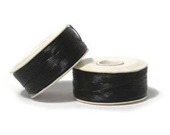 "Black Nymo ""0"" Beading Thread 115yd Bobbin NYM0BK"