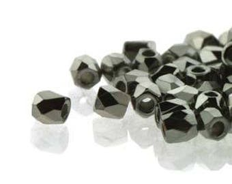 True 2 Czech Crystal Full Chrome Faceted Fire Polished Glass Beads 2mm (200+/-)