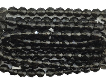 Transparent Faceted Black Diamond Glass Beads 8mm (30) bds1501K