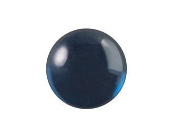 Transparent Montana Blue Foiled Glass Round Cabochons 13mm (4) cab2006U