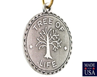 Sterling Silver Ox Plated Tree of Life Word Charm Drop with Loop (1) chr214GG